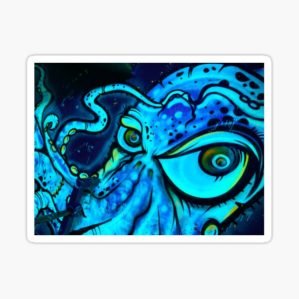 Sid the Squid - Blue variant  Sticker