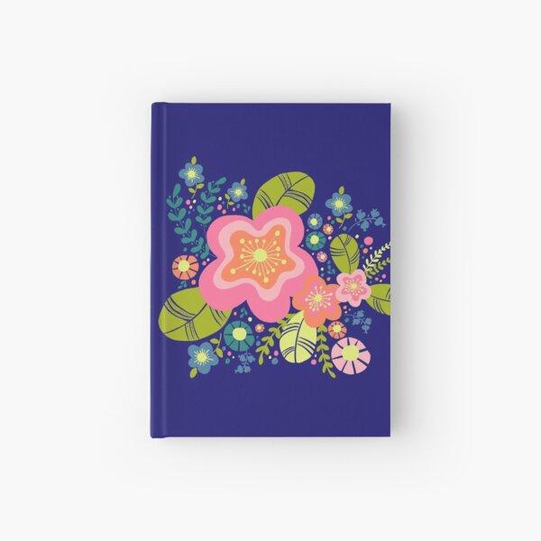 Retro vintage floral Hardcover Journal