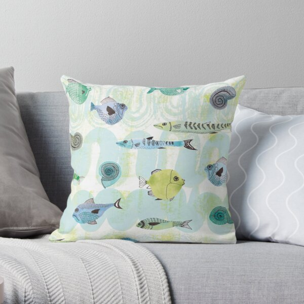 Fish Peak Hour Throw Pillow