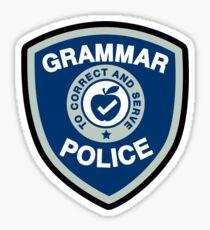 Grammar Police Sticker