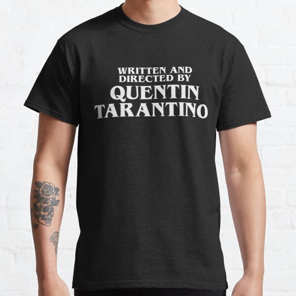 Written and Directed by Quentin Tarantino White - Pulp Fiction T-shirt classique