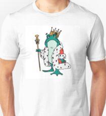 Robed frog prince cartoon design T-Shirt