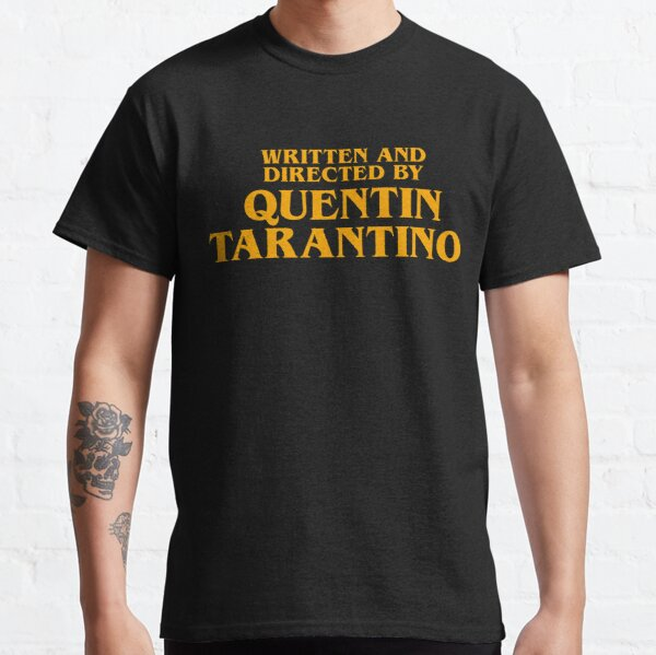 Written and Directed by Quentin Tarantino Orange - Pulp Fiction T-shirt classique