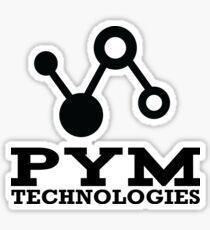 Pym Technologies Logo Black Sticker