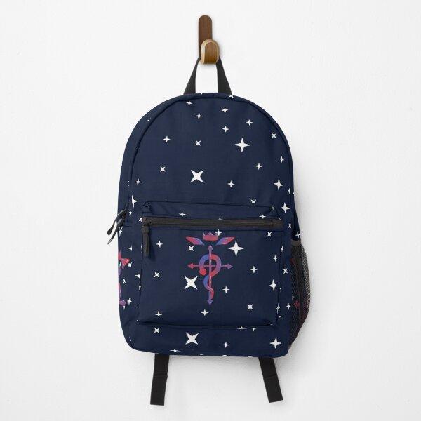Red & Blue Glossy Fullmetal Alchemist Logo Backpack