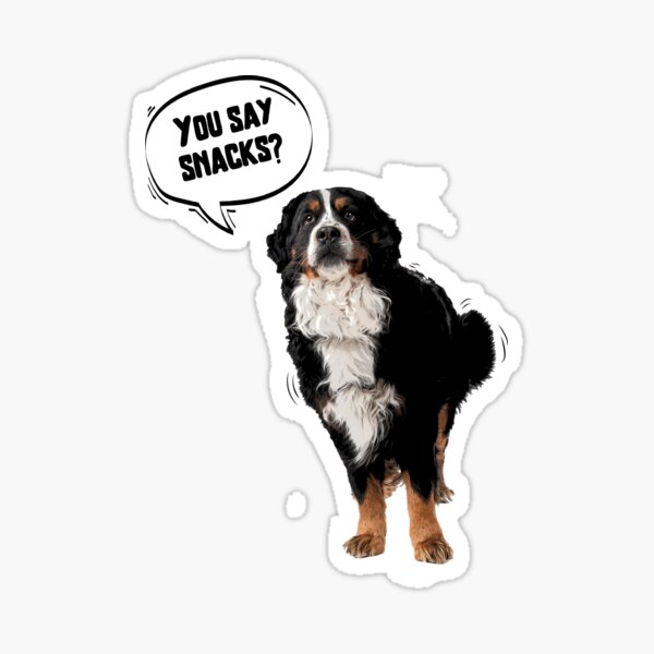 Cute Posterized Bernese mountain dog Sticker