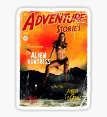 Adventure Stories the Alien Huntress Sticker