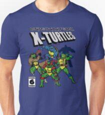 Camiseta ajustada X-Turtles, mutantes en medio caparazón (Colab con RPAdame)