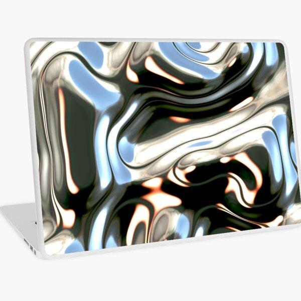 Liquid Flow (Futuristic Decorative Pattern - Liquid Metal) Laptop Skin
