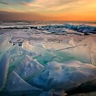 Ice Flow - Lake Superior by Michael Treloar