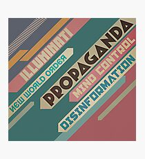 Elite Agenda Typography Photographic Print