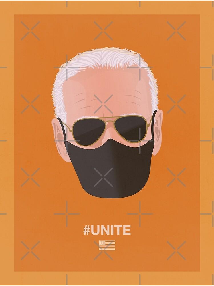 Joe Biden UNITE (orange) by PopArtClub