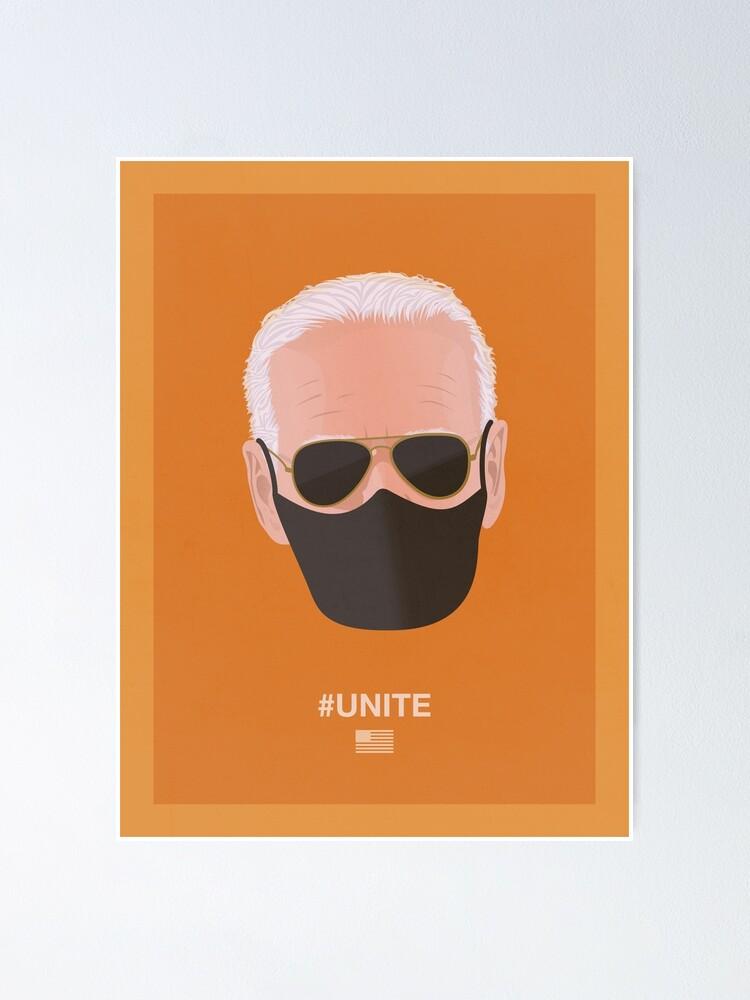 Alternate view of Joe Biden UNITE (orange) Poster
