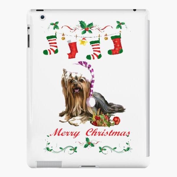 Merry Christmas ,cute Yorkie Christmas design 8 iPad Snap Case