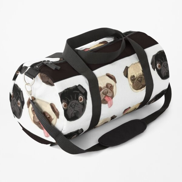 Pug Dog Art Pugs puppy funny cute dogs Duffle Bag
