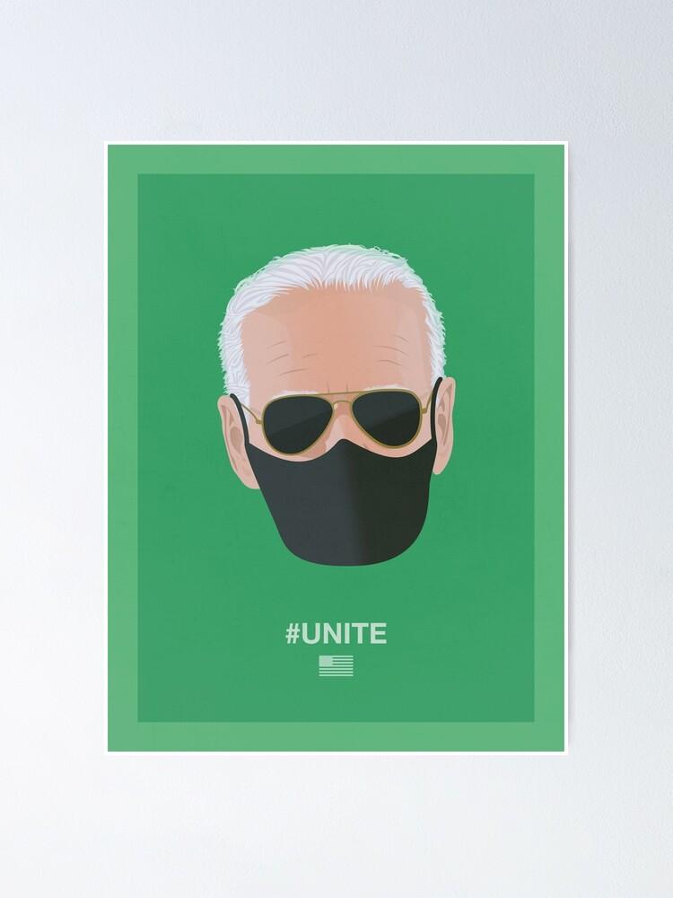 Alternate view of Joe Biden UNITE (green) Poster