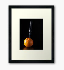 I Hate Fruit - Orange Framed Print