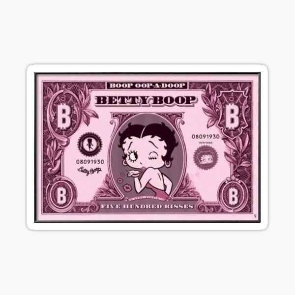 Betty Boop dinero Pegatina
