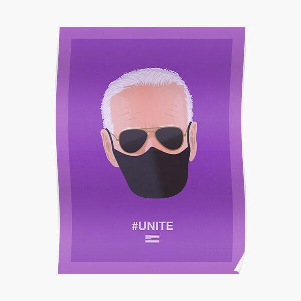 Joe Biden UNITE (violet) Poster