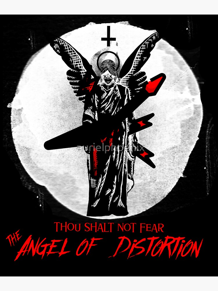 Thou shalt not fear the Angel of Distortion - Graffity Style Angel with Guitar by aurielphoenix