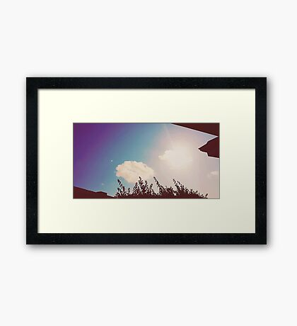 man in the cloud Framed Print