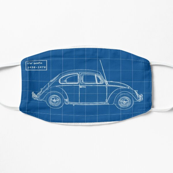 VW Beetle Blueprint Mask