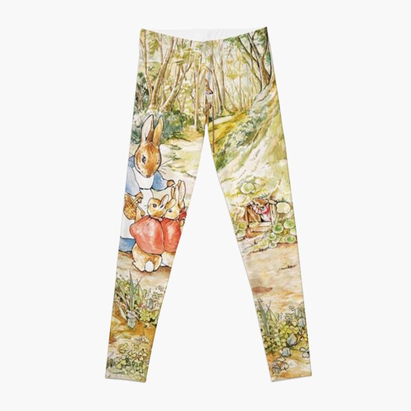 "Beatrix Potter Rabbit Family Illustration ""The Tale of Peter Rabbit"" Leggings"