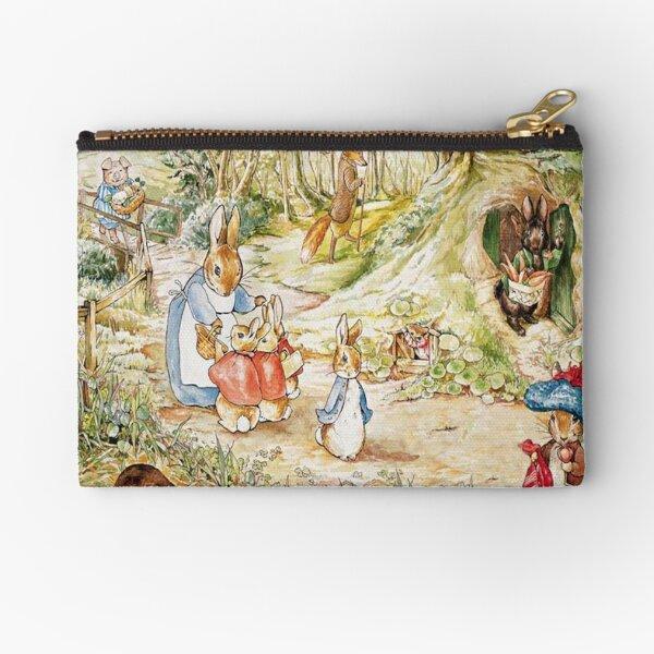 "Beatrix Potter Rabbit Family Illustration ""The Tale of Peter Rabbit"" Zipper Pouch"