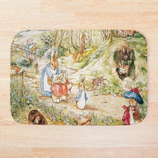 """Illustration de la famille Beatrix Potter Lapin """"Le conte de Peter Rabbit"""" Tapis de bain"""