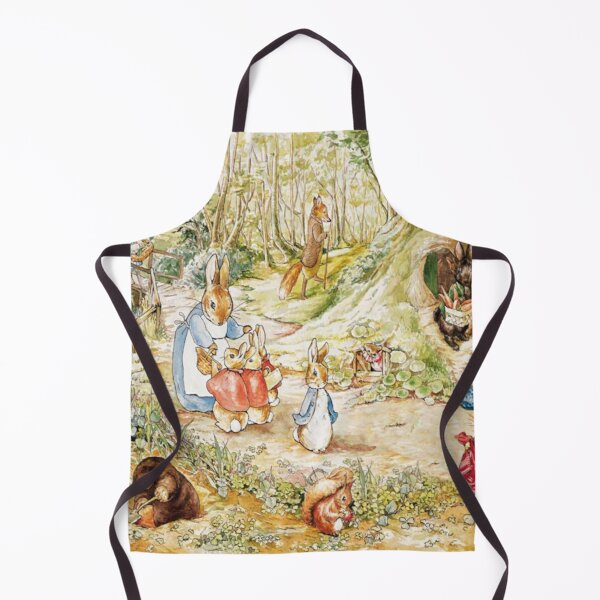 "Beatrix Potter Rabbit Family Illustration ""The Tale of Peter Rabbit"" Apron"