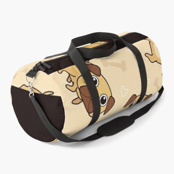 Pug Dog Art Pugs puppy funny cute dogs Duffle Bag