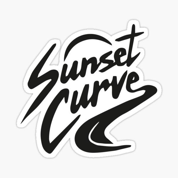 Sunset Curve logo Sticker
