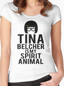 Tina Spirit Animal Women's Fitted Scoop T-Shirt