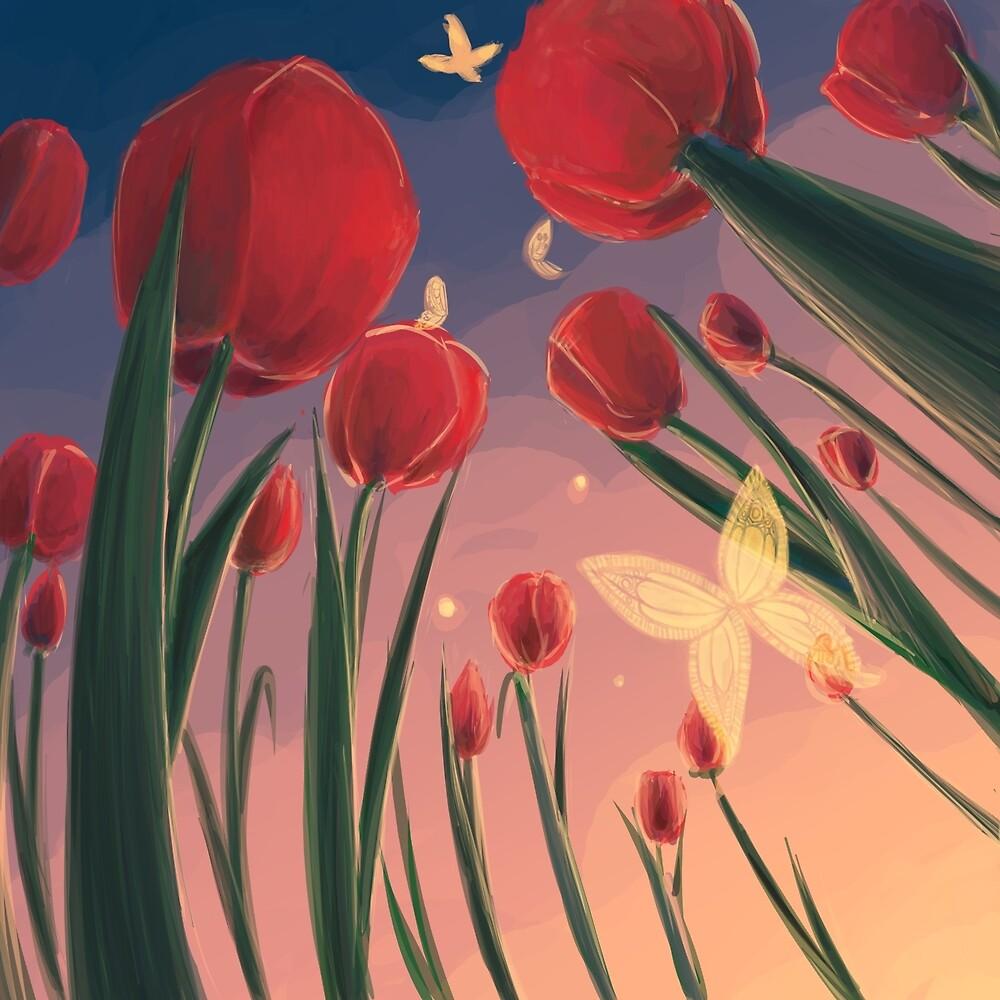 tulips by Lina Nguyen