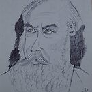 Johannes Brahms drawing by worldartpeddler