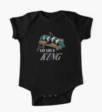 Eat Like a King (Dark) Short Sleeve Baby One-Piece