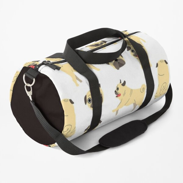 Pug Dog Art Pugs puppy funny cute dogs I love Pugs Duffle Bag