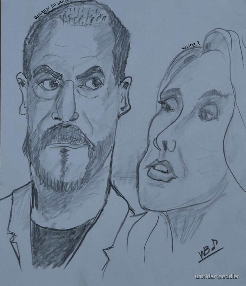 Man and Wife Drawing by worldartpeddler