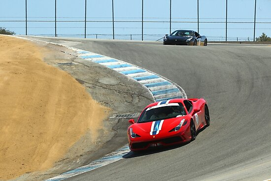 Ferrari 458 Speciale at Laguna Seca Corkscrew by kkayden