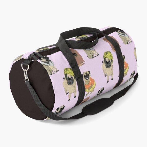 Pug Dog Art Pugs puppy funny cute dogs I love Pugs Duffle Bag