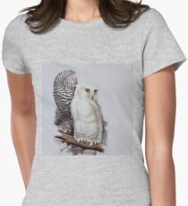 Edward Lear - Snowy Owls Womens Fitted T-Shirt