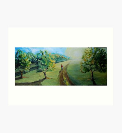 Walking to the center of nowhere Art Print