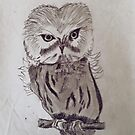 Owl Drawing by worldartpeddler