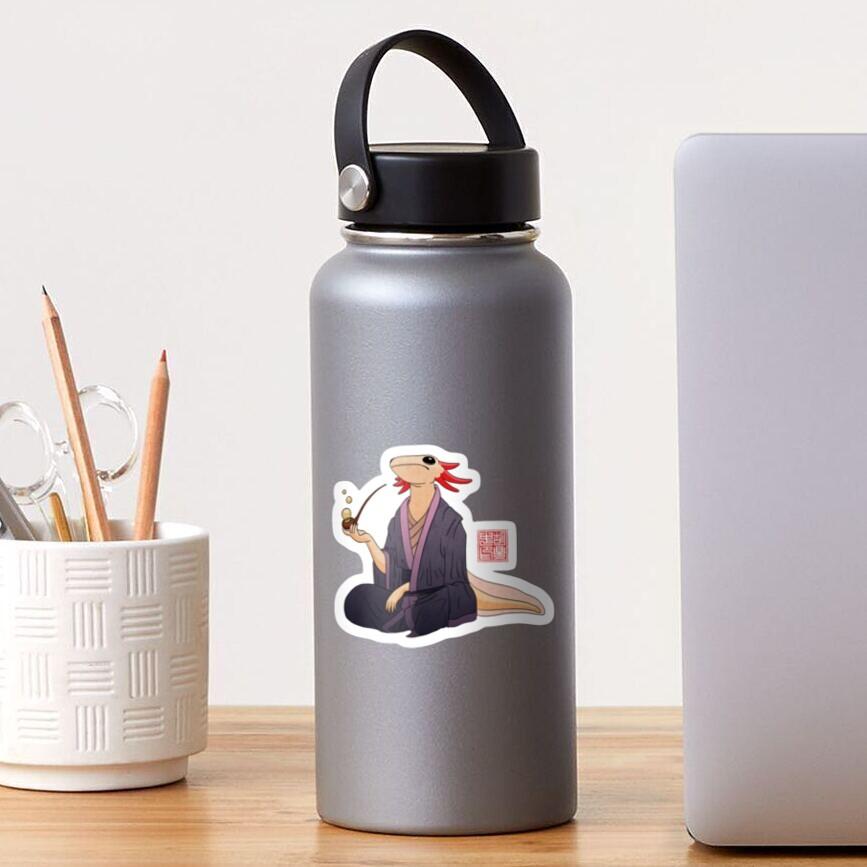Axolotl Philosopher With Bubble Pipe Sticker