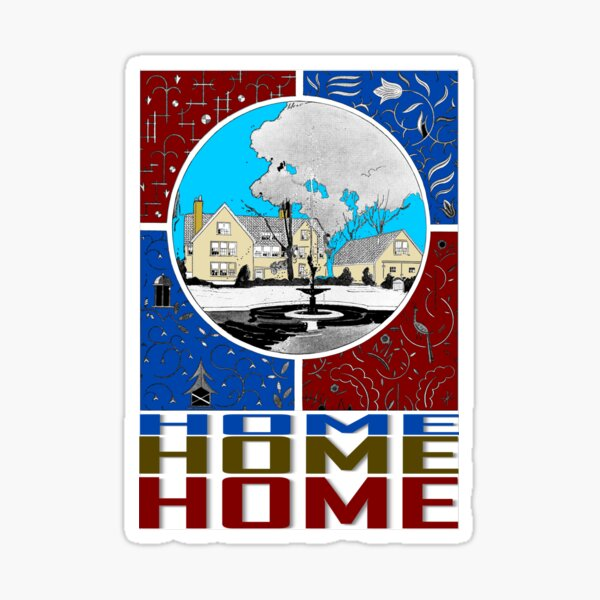 HOME IN COLOR Sticker