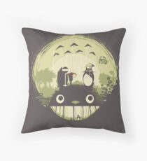 Totoro nightmare Throw Pillow