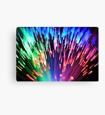 Multi-colored fibre optics Canvas Print