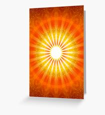 RAYS OF LIGHT - HEAVENS GATE Greeting Card