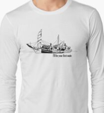 The Many Faces of Boating Long Sleeve T-Shirt