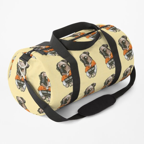 Pug Dog Art Pugs puppy funny cute dogs in jail Duffle Bag